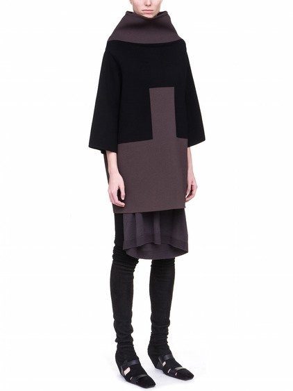 RICK OWENS FW17 GLITTER OFF-THE-RUNWAY CRATER SWEATER IN BLACK FEATURES AN OVERSIZED FIT