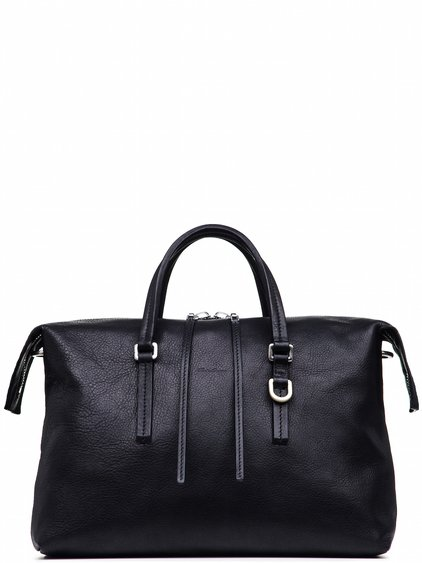 RICK OWENS CITY BAG IN BLACK CALF LEATHER
