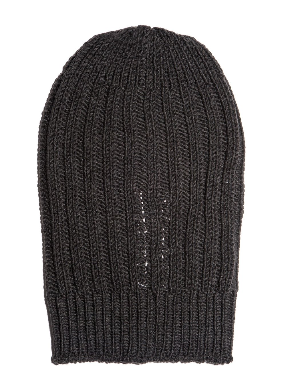 rick owens black ribbed hat