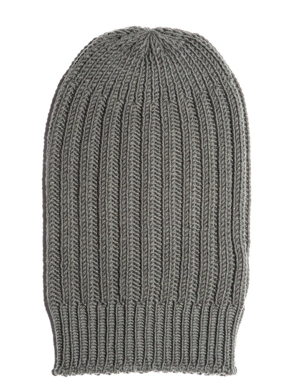 rick owens grey ribbed hat