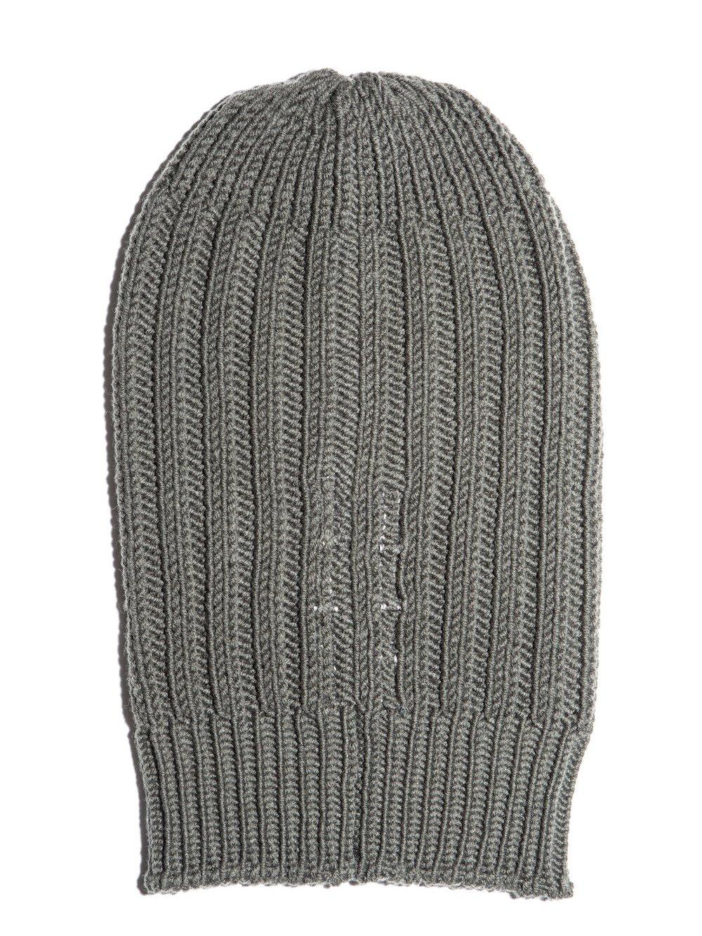 rick owens grey wool beanie