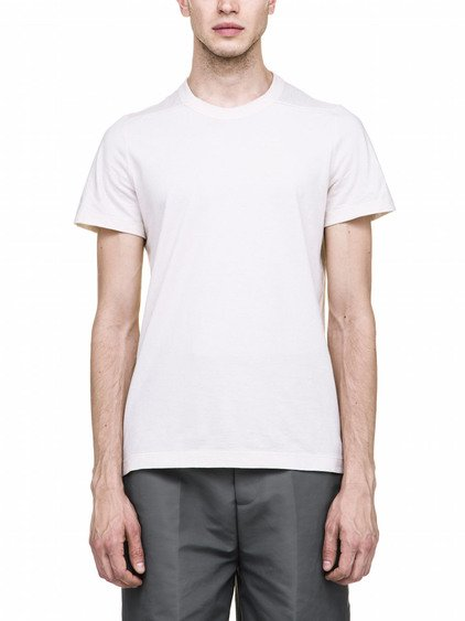 RICK OWENS LEVEL TEE IN NATURAL WHITE ECO COTTON