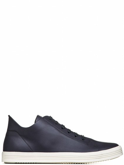 RICK OWENS MASTODON SNEAKERS LOW IN IRON DARK PURPLE
