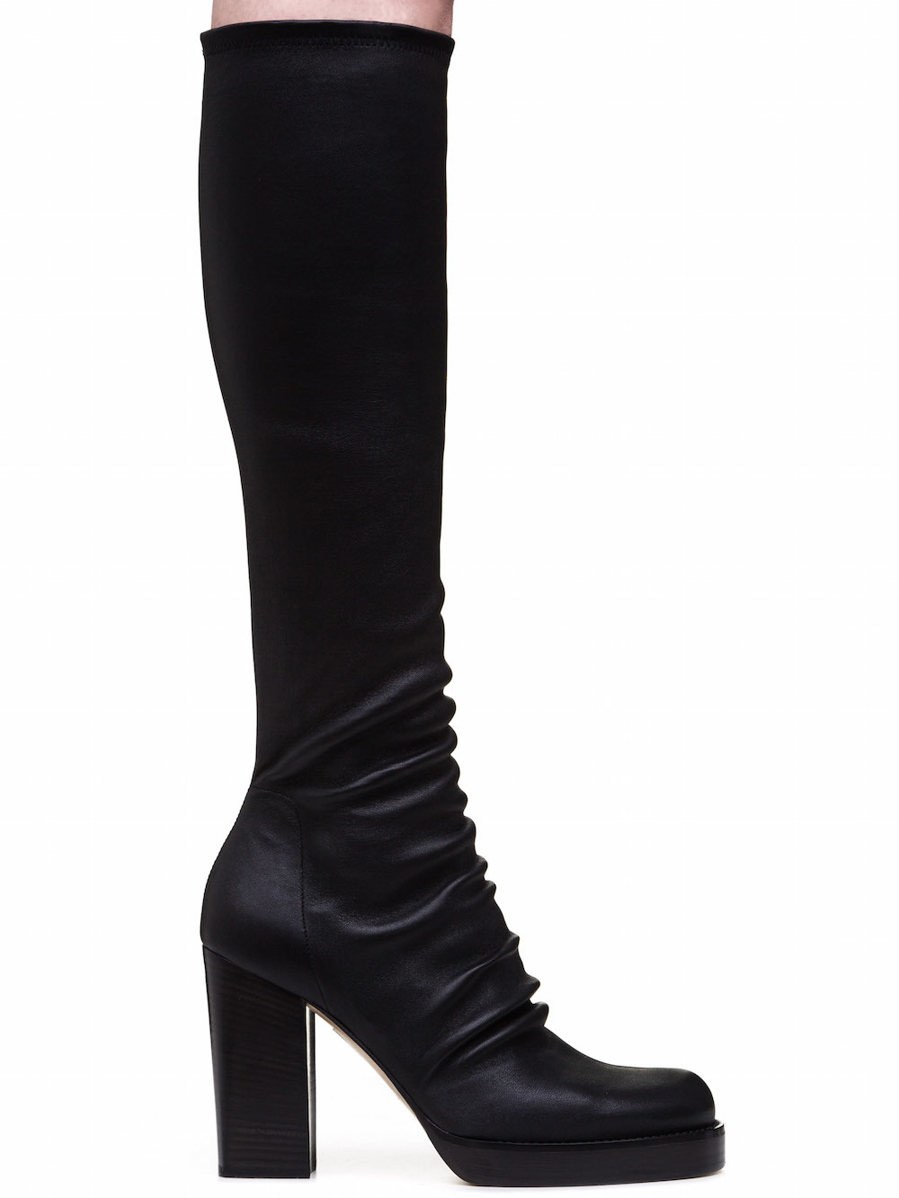 Rick Owens Black Chunky Sock Boots