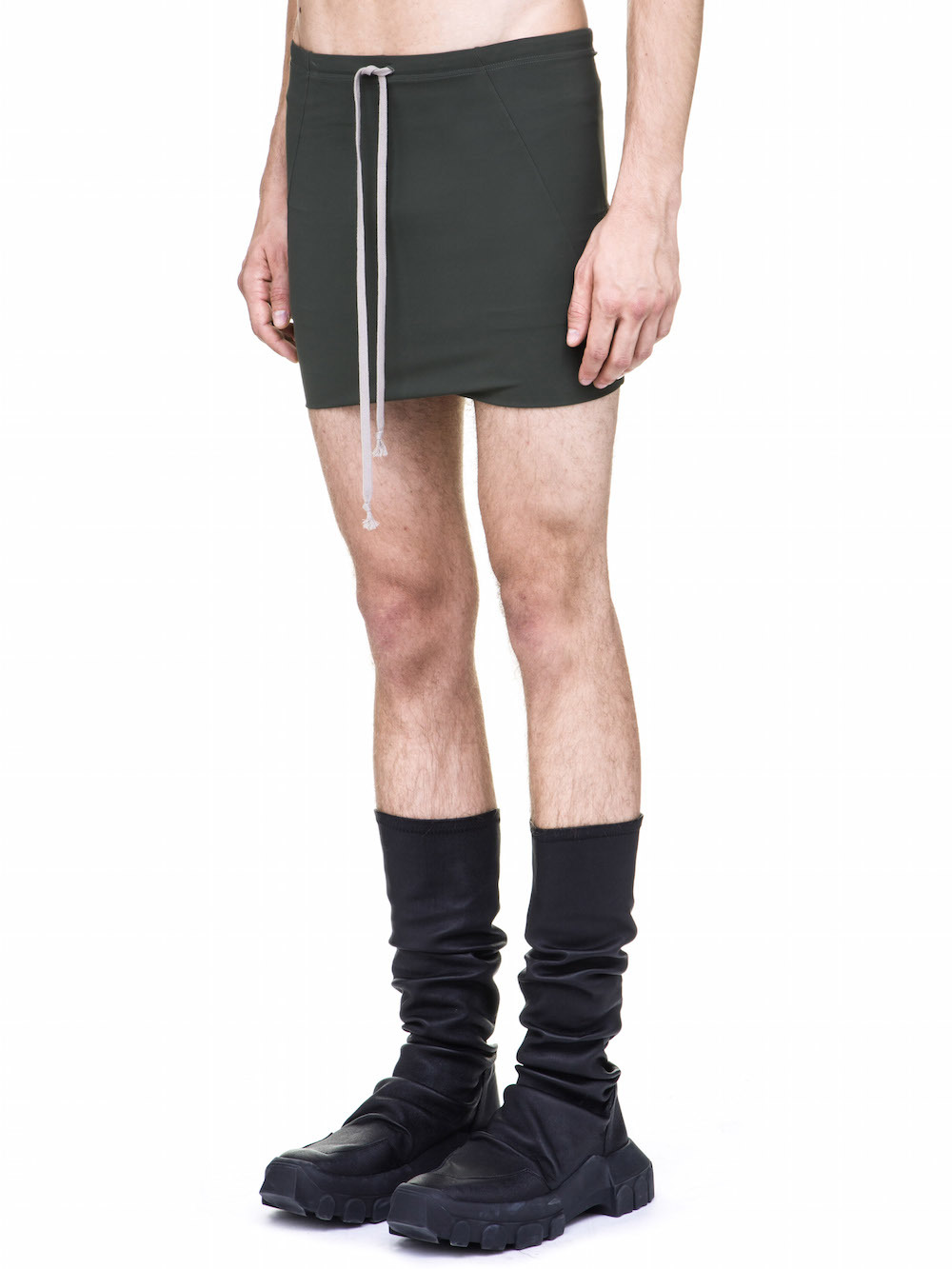 RICK OWENS BATHING TRUNK IN FOREST GREEN