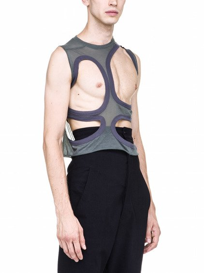 RICK OWENS MB I TOP IN SAGE GREEN