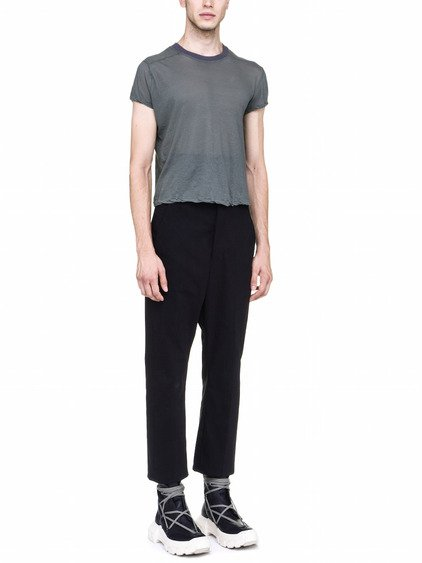 RICK OWENS OFF-THE-RUNWAY SHORT LEVEL TEE IN SAGE GREEN