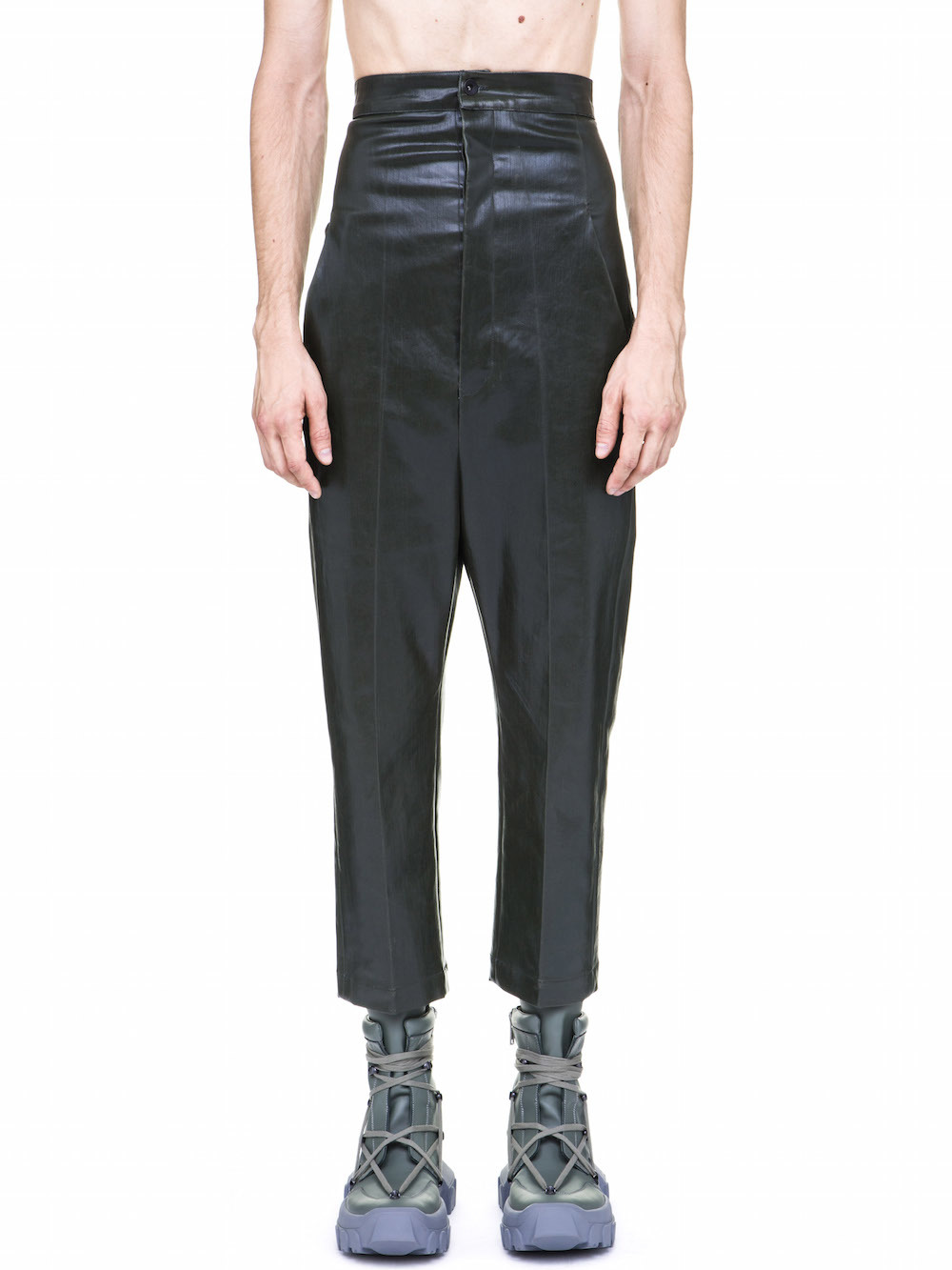 RICK OWENS OFF-THE-RUNWAY DIRT JEAN IN FOREST GREEN