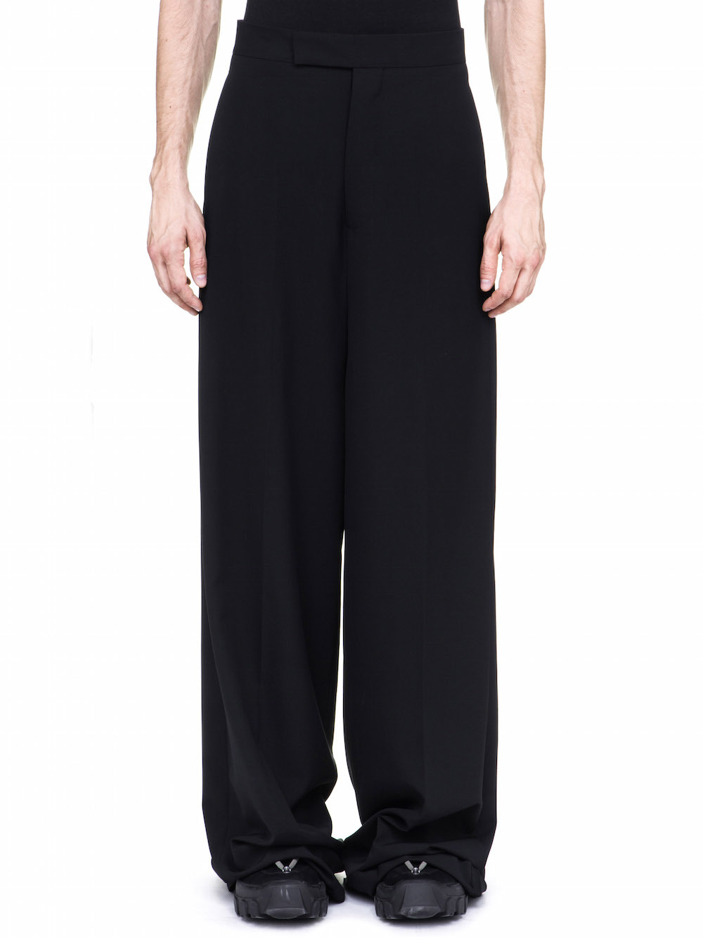 RICK OWENS OFF-THE-RUNWAY VISCONTIS TROUSERS IN BLACK
