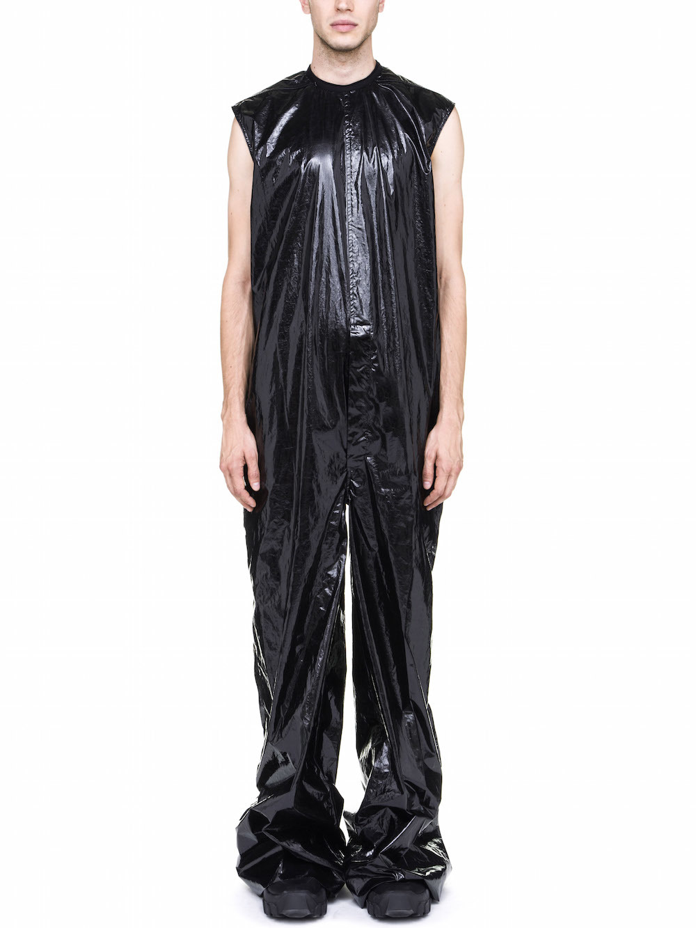 RICK OWENS  OFF-THE-RUNWAY DIRT BODYBAG IN BLACK
