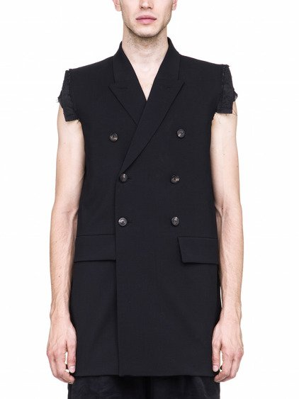 RICK OWENS BERGER JMF SLEEVELESS JACKET