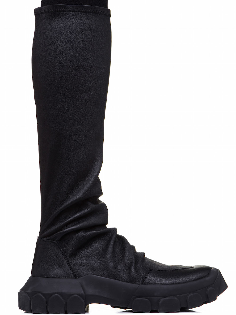 RICK OWENS Soft Leather Boots Black IO77735