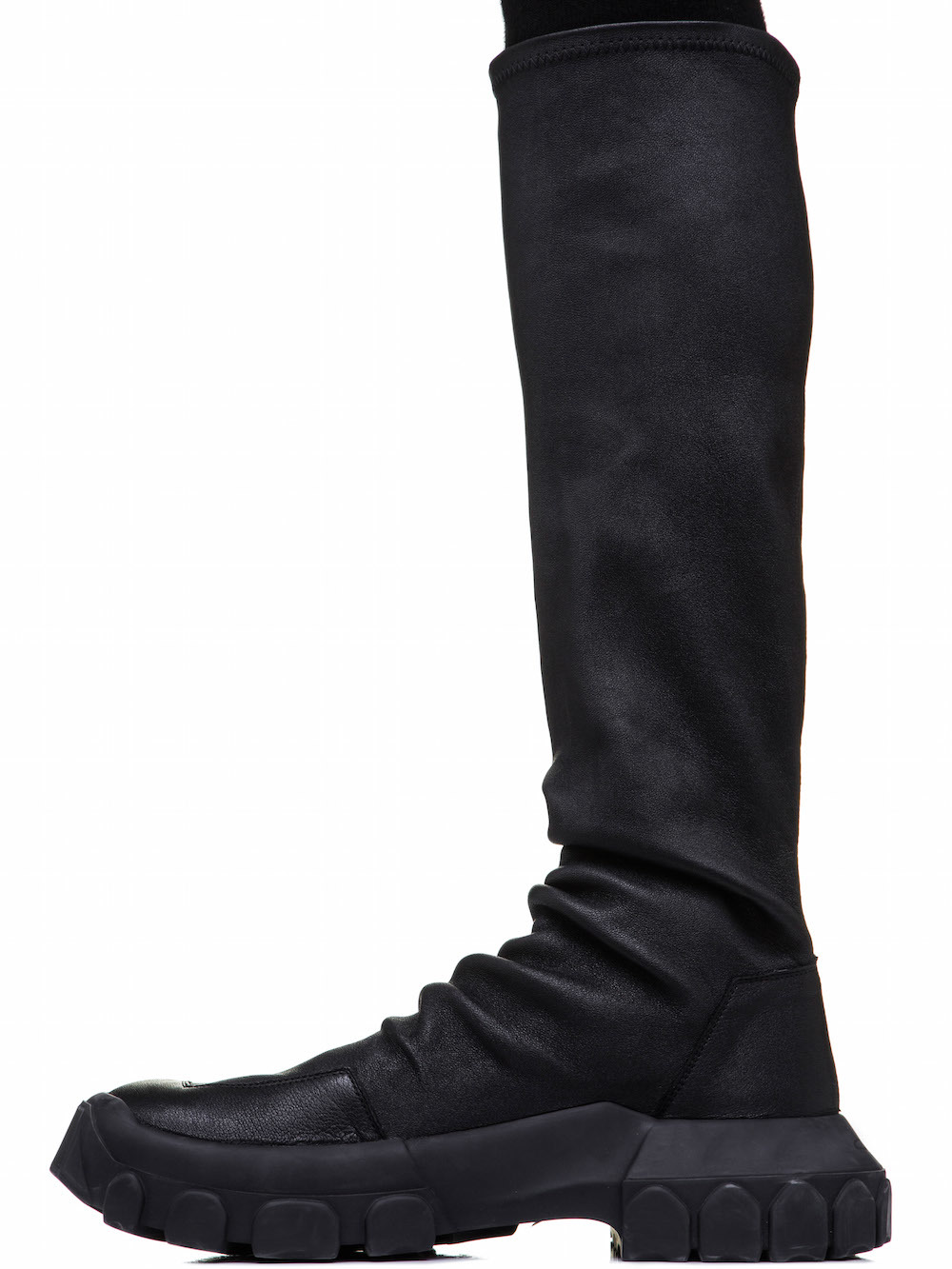 RICK OWENS STRETCH HIKING SOCK SNEAKERS IN BLACK