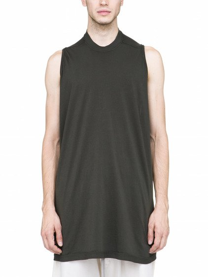 DRKSHDW RICK'S TANK IN FOREST GREEN COTTON JERSEY