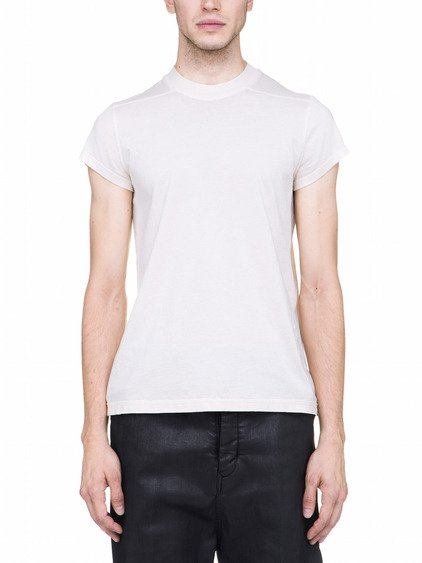 DRKSHDW SHORTSLEEVE CREW LEVEL SHORT TEE IN NATURAL WHITE COTTON