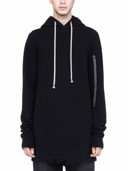 DRKSHDW PULLOVER HOODIE IN BLACK HEAVY COTTON JERSEY
