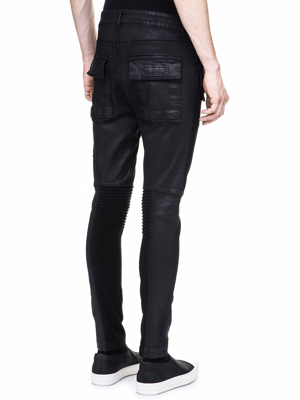 DRKSHDW MEMPHIS CUT JEANS IN 10OZ STRETCH BLACK WAX DENIM