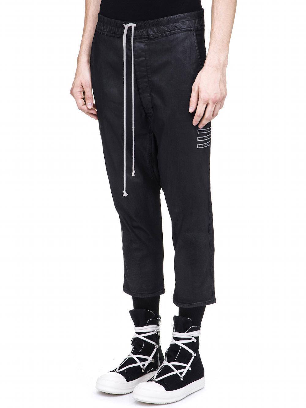 cropped drop-crotch trousers - Black Rick Owens sEk10w