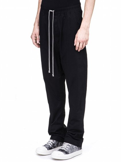 DRKSHDW DRAWSTRING LONG PANTS IN BLACK COTTON