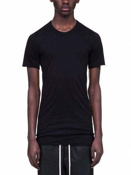 RICK OWENS BASIC SHORT SLEEVES TEE IN BLACK