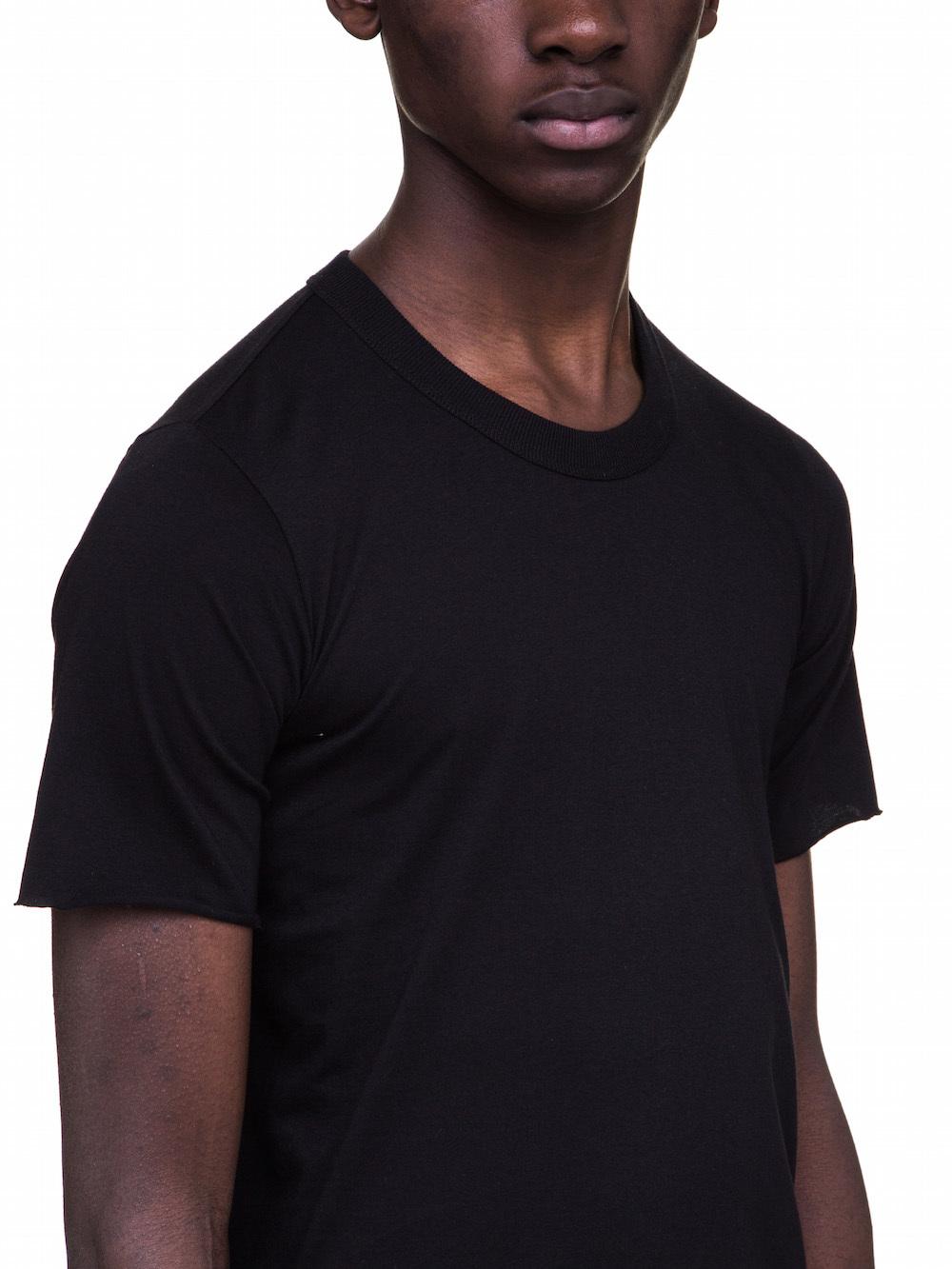 RICK OWENS BASIC SHORT SLEEVES TEE IN BLACK