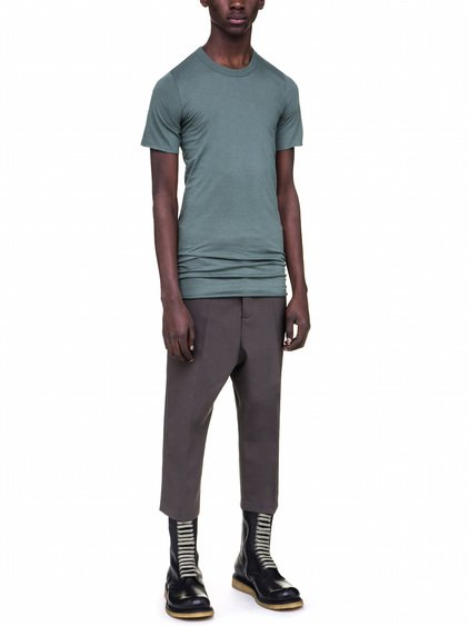 RICK OWENS BASIC LONG SLEEVES IN SAGE GREEN COTTON