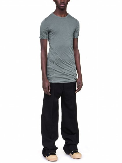 RICK OWENS DOUBLE SHORT SLEEVES TEE IN SAGE GREEN