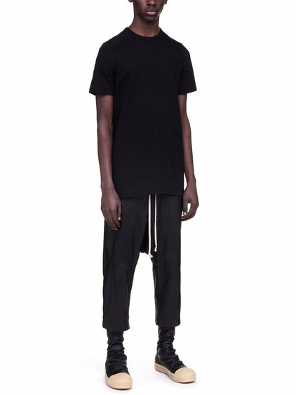 RICK OWENS LEVEL TEE IN BLACK COTTON