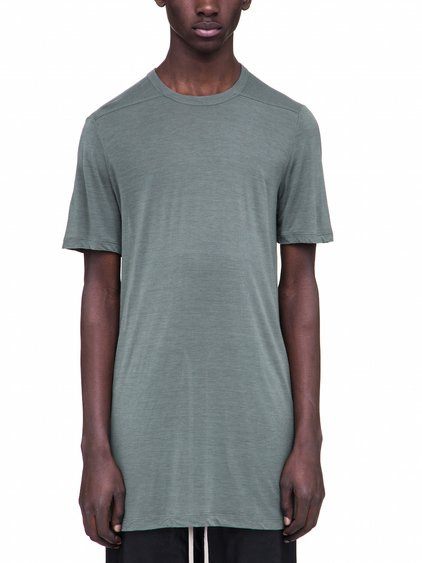 RICK OWENS LEVEL TEE IN SAGE GREEN VISCOSE