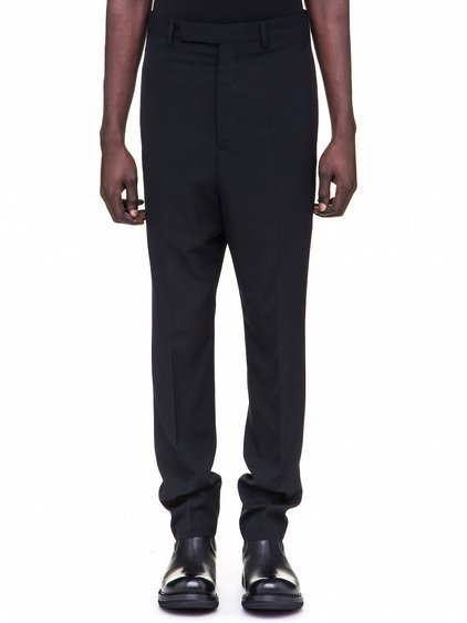 RICK OWENS LONG ASTAIRES TROUSERS IN BLACK