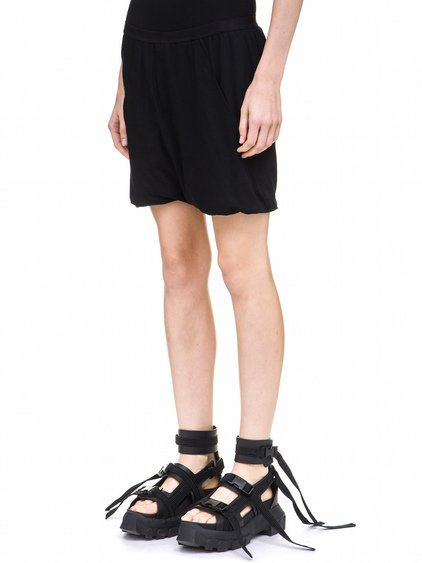 RICK OWENS BUD SHORTS IN BLACK COTTON