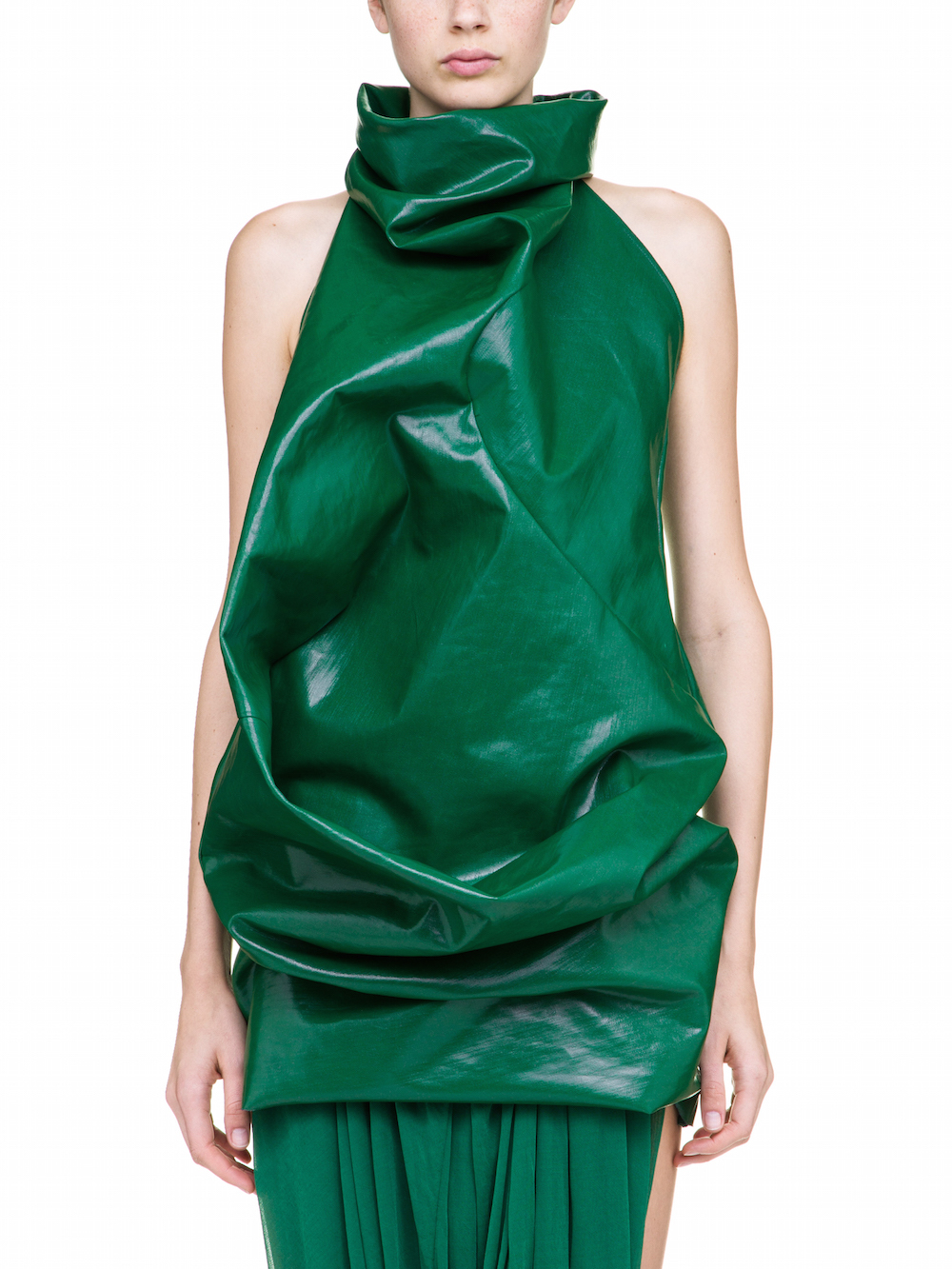 RICK OWENS ELIPSE TUNIC IN GREEN