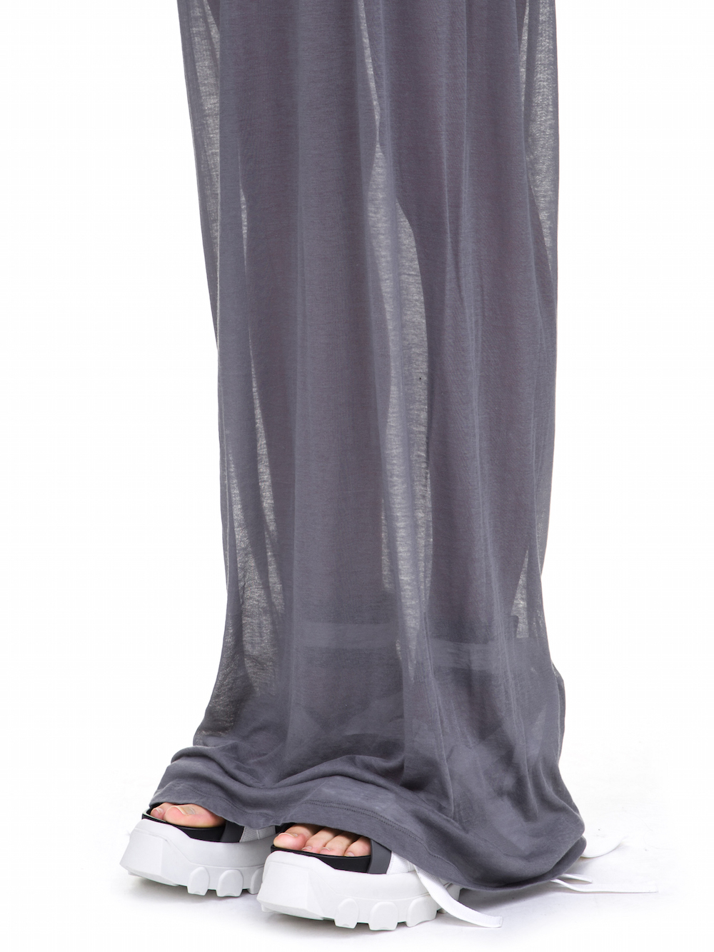 RICK OWENS  MEMBRANE GOWN TEE BASE IN GREY