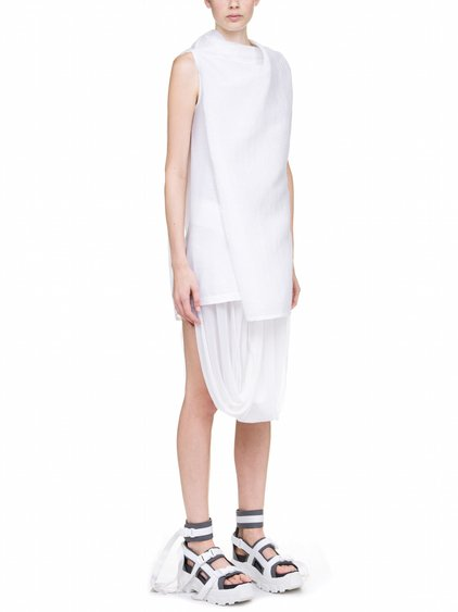 RICK OWENS TOGA TUNIC IN WHITE