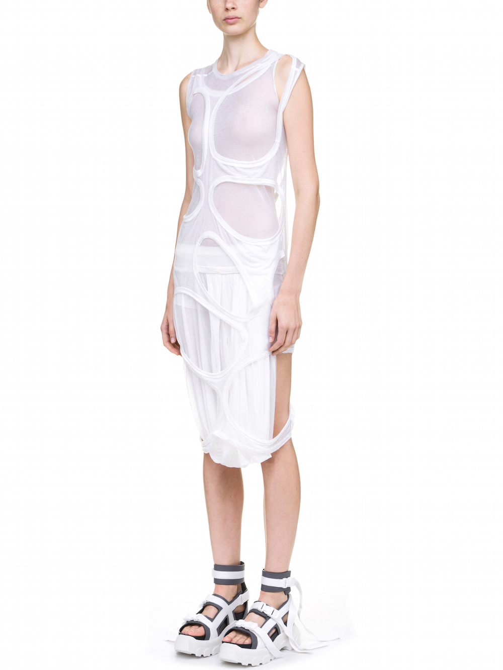 Buy Cheap Great Deals Outlet Factory Outlet Membrane dress - White Rick Owens O5kQhaQ