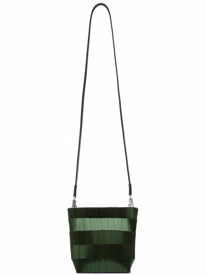 RICK OWENS SMALL ADRI BAG COVERED WITH GREEN BUGLE BEADS