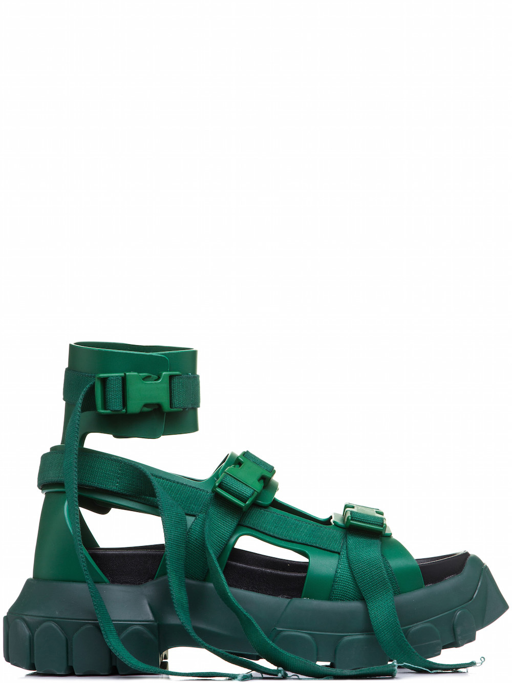 RICK OWENS HIKING SPARTAN SANDALS IN GREEN