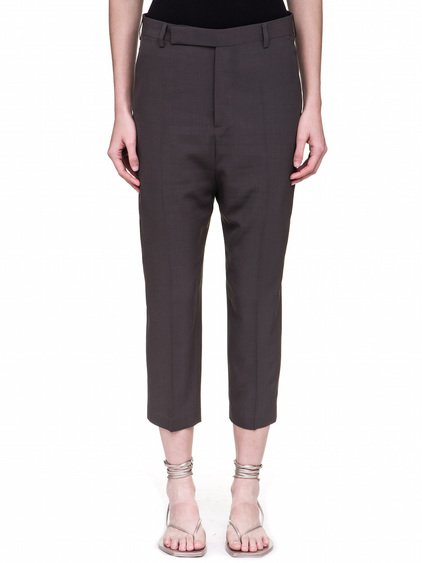 RICK OWENS EASY ASTAIRES TROUSERS IN DARKDUST GREY
