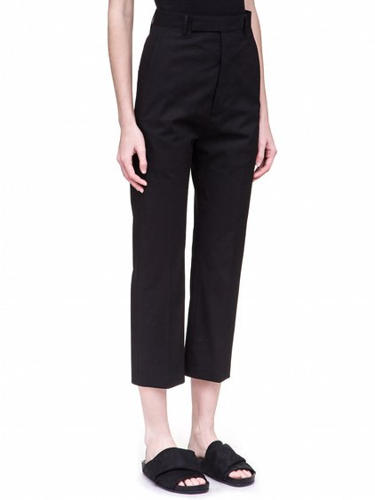 RICK OWENS BOLANS TROUSERS IN BLACK HEAVYWEIGHT