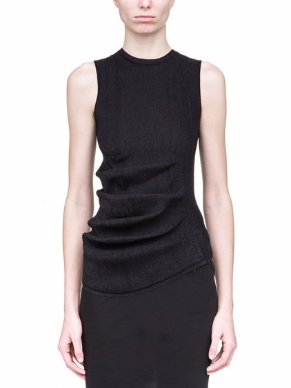 RICK OWENS WHIPPED TOP IN BLACK