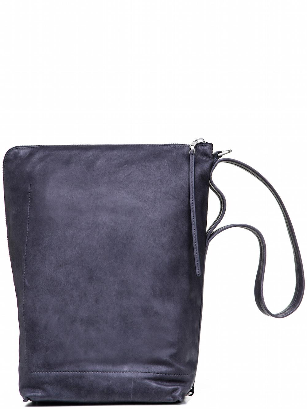 RICK OWENS BUCKET BAG IN PURPLE