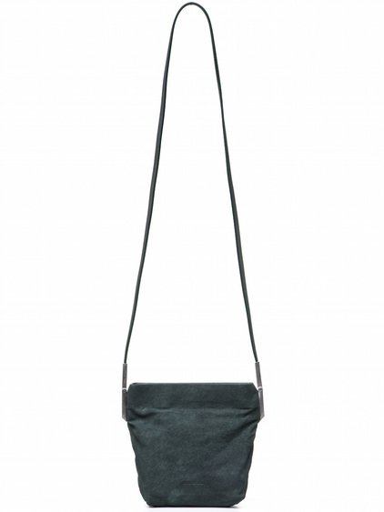 RICK OWENS SMALL ADRI BAG IN GREEN BLISTER LAMB LEATHER