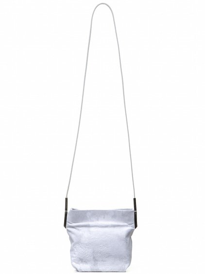 RICK OWENS SMALL ADRI BAG IN WHITE BLISTER LAMB LEATHER