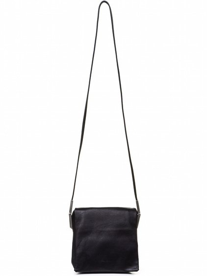RICK OWENS FLAP ADRI BAG IN BLACK CALF LEATHER