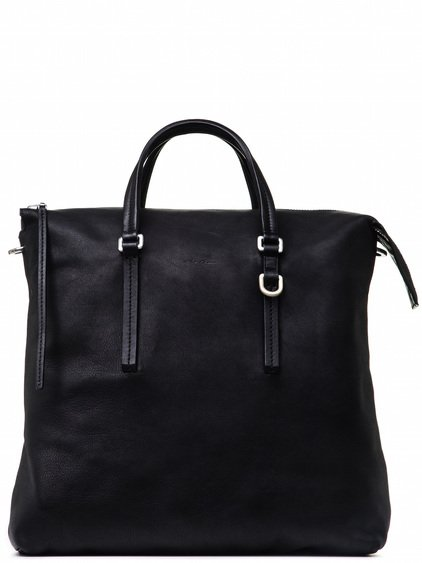 RICK OWENS SHOULDER BAG IN BLACK CALF LEATHER