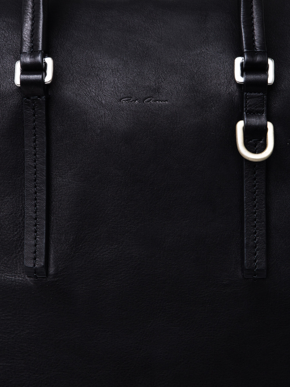 RICK OWENS SHOULDER BAG IN BLACK CALF LEATHER