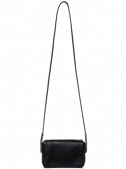 RICK OWENS MICRO ADRI BAG IN BLACK CALF LEATHER