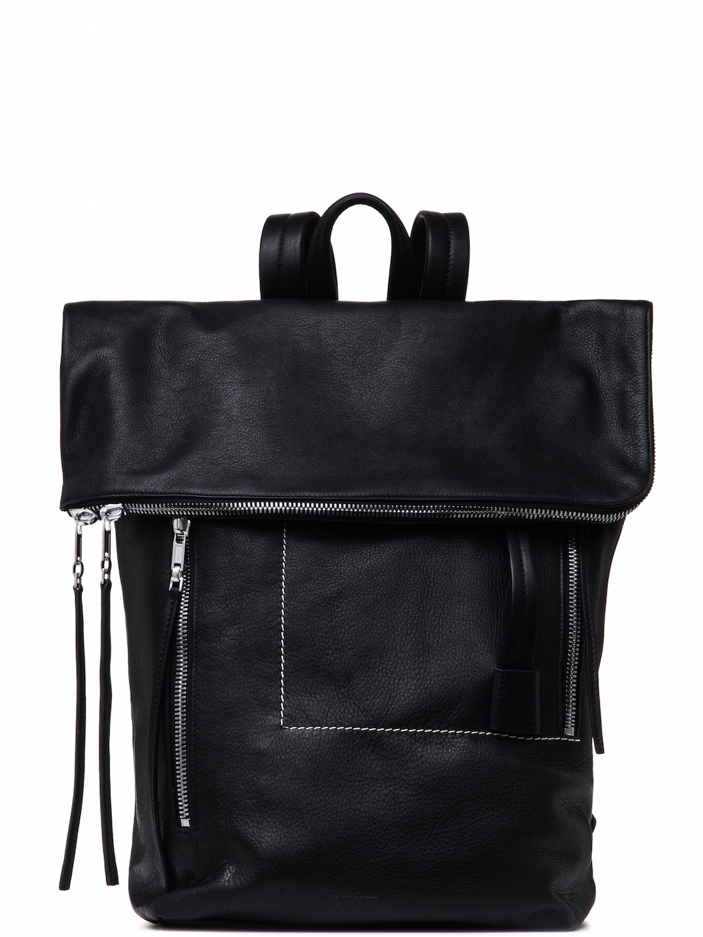 Medium leather backpack with zip Rick Owens