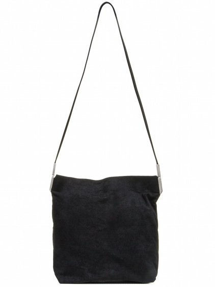 RICK OWENS BIG ADRI BAG IN BLACK BLISTER LAMB LEATHER