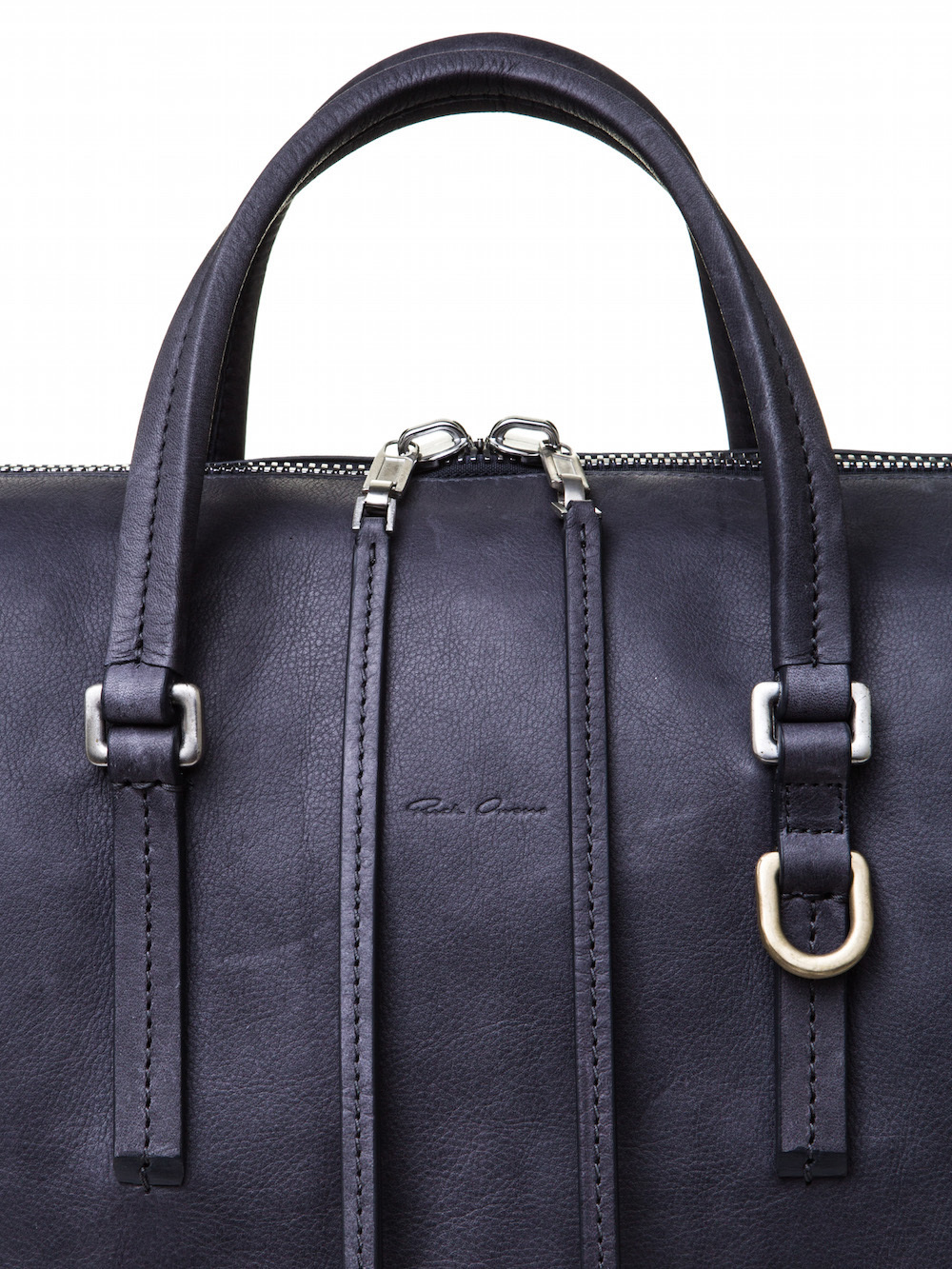 RICK OWENS CITY BAG IN PURPLE CALF LEATHER